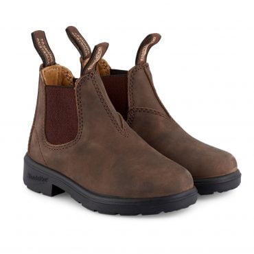 Blundstone #565 Kids Boots In Rustic Brown